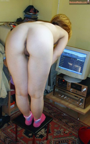 Naked Young Serbian Housewife Bends Over