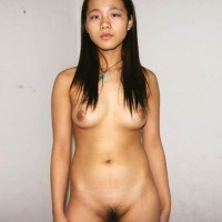 Nude Vietnamese Teen Babe Hairy Pussy