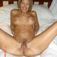 Older Blonde Canadian Wife Posing Nude