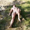 Nudist Woman Relaxing in German Plain