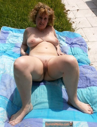 Blonde French Mature Nudist Woman