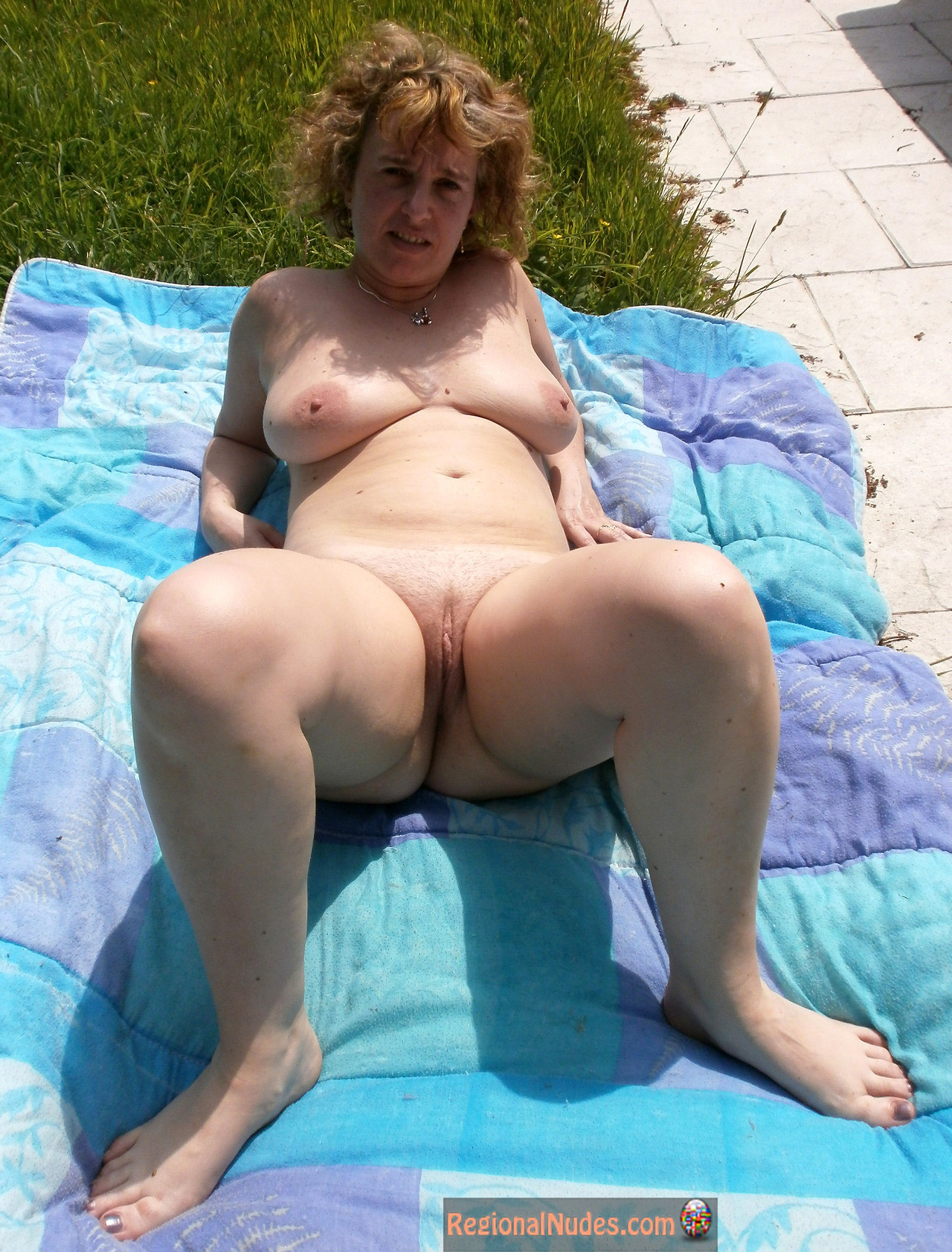 Blonde French Mature Nudist Woman  Regional Nude Women -3012