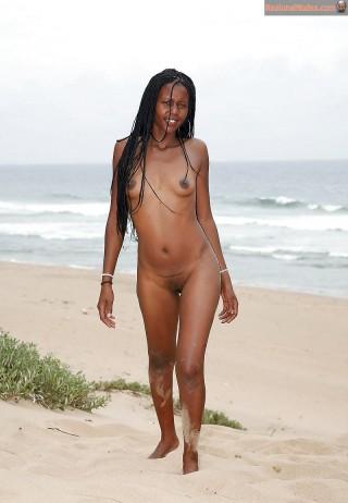 Eritrean Nudist Girl on the Beach