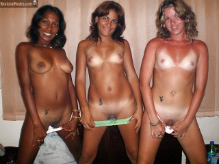 3 Cuban Girls Showing Pussies and Boobs