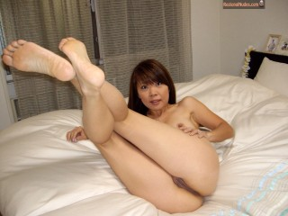 Japanese Cute Wife Posing Pussy at Home