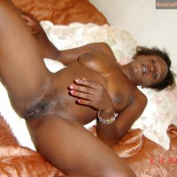 Nude Zambian Female in Bed