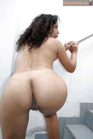 Naked Dominican Woman Booty Bending Over