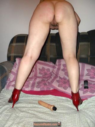 Nasty Kazakhstani Woman Bends Over Naked Ass