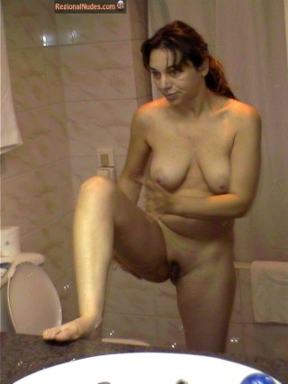 Wife naked shower