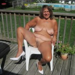 my pussy outside