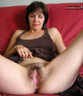 Russian Woman Revealing her Hairy Open vagina