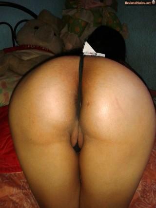 Saudi Arabian Woman Ass Thong Between Labia