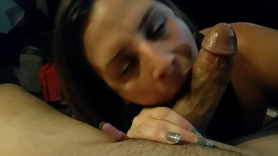 Cuban Whore Sucks it and Loves Cum HD
