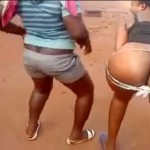 Ghana Babes Dancing and Showing pussy on the street