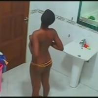 Ghana Reality shower nude spy