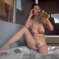 Hot Naked South Korean Wife in Bathtub