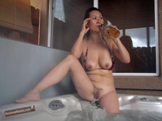 Hot Naked South Korean Wife in Bathtub