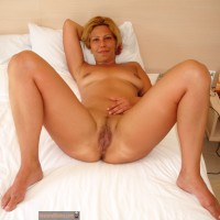 Nude Blonde Serbian Housewife in Bed