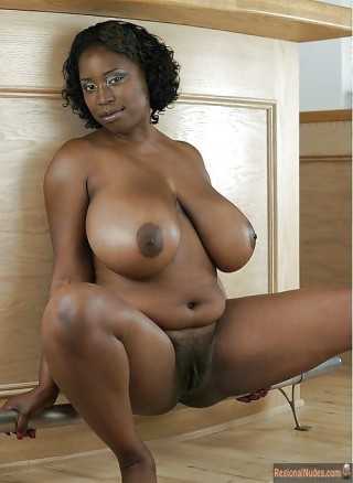Nude Nigerian Woman with Huge Tits