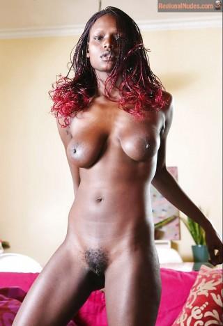 Slim Nude Ugandan Babe Posing
