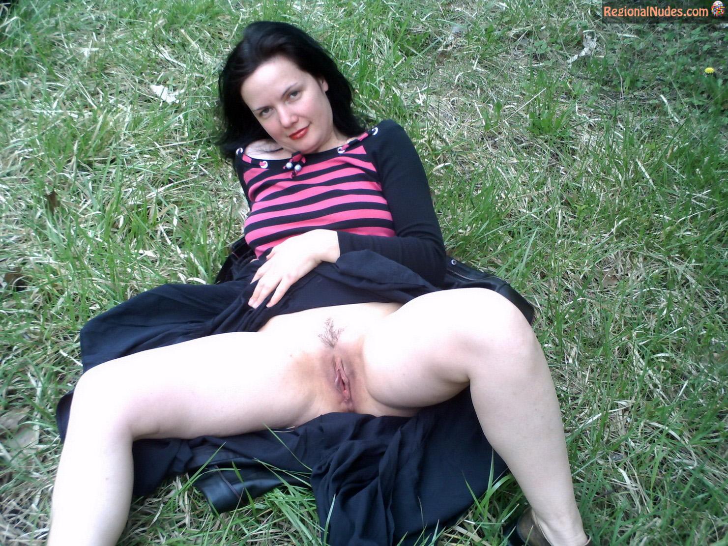 Bulgarian Woman Revealing Cunt On Grass  Regional Nude -6825