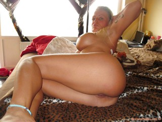 Busty British Female Arse in Bed