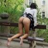 Flashing Czech Girl Butt on Streets