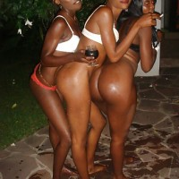 Group of Congolese Girls Showing Asses