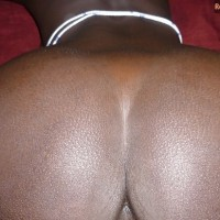 Round Black Ivorian Buttocks