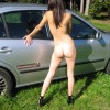 Teen Swiss Girl Naked from Behind Outdoors