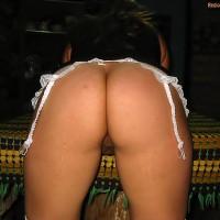 Bent Over Uruguayan Nude Ass Lingerie