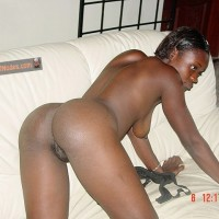 Nude Hot Haitian Girl on all fours