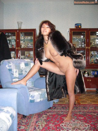 Uzbek Wife Showing Tits and Pussy