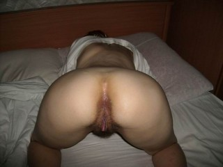Belarusian Wife's Butt Up hairy Cunt