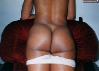 Brown African Woman Buttocks Ass from Botswana nude