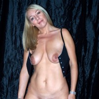 French Blonde Woman Panties down Tits Out