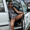 Hungarian Woman Exposing Pussy in Car Open Door