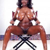 Nude Oily Sierra Leonean Woman Huge Tits Dark Pussy