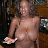 Very Large Saggy African Brown Breasts nude Woman from Sierra Leone