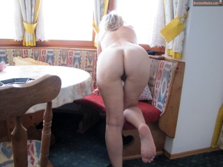 Blonde Naked Wife Bends Over from Sweden
