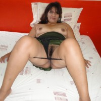 Bored Mexican Wife Showing Pubes and Tits
