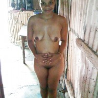 Dominican Woman Happy to Pose Naked in the Yard