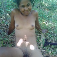 Native Malagasy Nude woman in Madagascar Forest