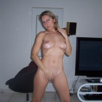 Belgian Milf Naked at Home Covering Pussy