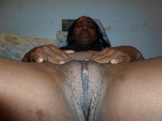Haitian Black Milf Shaved Vulva