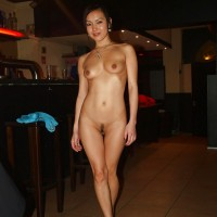 Nude Mongolian Cutie Teen in a Bar