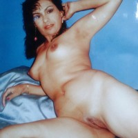 Old Photo of  Nude Ecuadorian Wife at Home