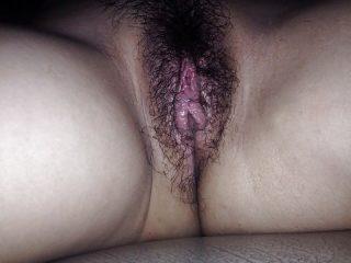 Hairy Vietnamese Fleshy Cunt Up-Close