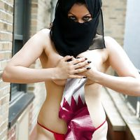 Sexy Arabian Burka Woman Doha Qatar