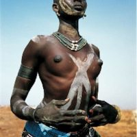 Black African Ethnic Tribe Woman Topless from Sudan